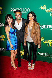 LOS ANGELES, CA - AUGUST 31 Left to Right Actress Martha Higareda, Actor Eugenio Derbez and Actress Aislinn Derbez attend the red carpet premiere of the film No Manches Frida the the Regal Cinemas in downtown Los Angeles on Tuesday night 2016 August 31. Byline, credit, TV usage, web usage or linkback must read SILVEXPHOTO.COM. Failure to byline correctly will incur double the agreed fee. Tel: +1 714 504 6870.