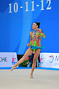 Berezko Jana during qualifying at clubs in Pesaro World Cup 11 April 2015.<br />