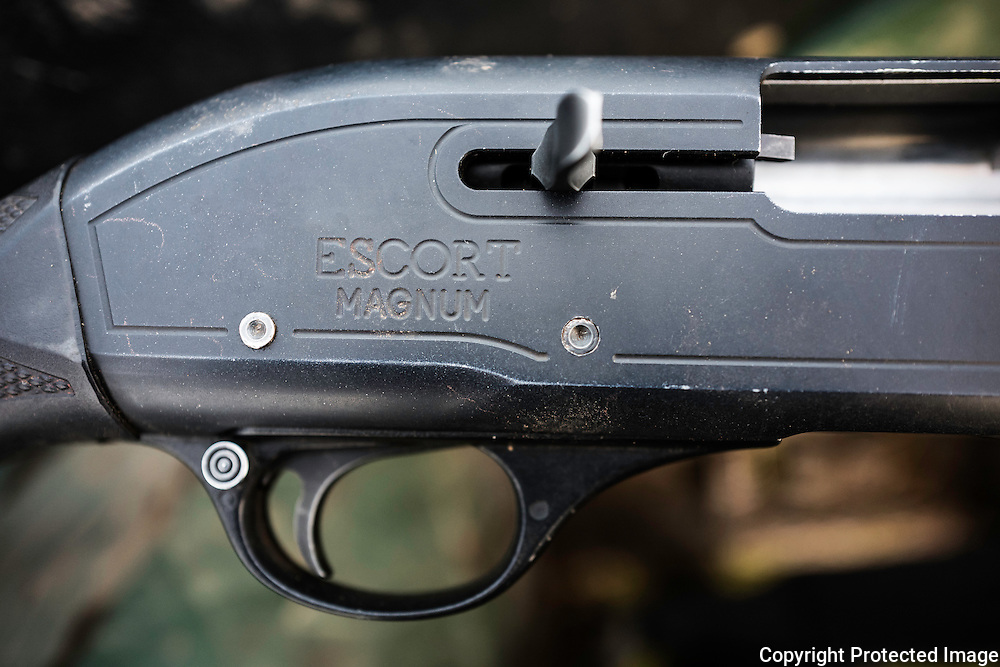 A semi automatic shotgun.