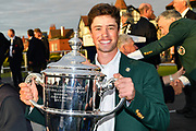 Cole Hammer (USA) with the Walker Cup after the Sunday Singles in the Walker Cup at the Royal Liverpool Golf Club, Sunday, Sept 8, 2019, in Hoylake, United Kingdom. (Steve Flynn/Image of Sport)