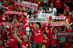 KUALA LUMPUR, MALAYSIA - Saturday, July 16, 2011: Liverpool supporters' banners at the National Stadium Bukit Jalil in Kuala Lumpur on day six of the club's Asia Tour. (Photo by David Rawcliffe/Propaganda)