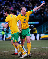Brighton - Saturday 13th February, 2010: Gary Doherty of Norwich City celebrates his winning goal during the Coca Cola League One match at The Withdean, Brighton...(Pic by Alex Broadway/Focus Images)