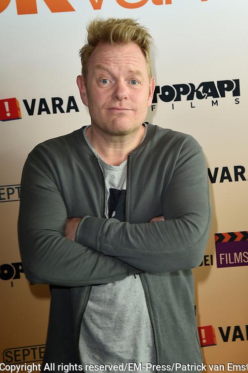 Perspresentatie Cast speelfilm GEK VAN ORANJE<br /> <br /> Op de foto:  Martijn Fischer