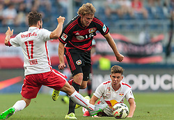 21.07.2015, Red Bull Arena, Salzburg, AUT, Testspiel, FC Red Bull Salzburg vs Bayer 04 Leverkusen, im Bild v.l.: Andreas Ulmer (FC Red Bull Salzburg), Stefan Kiessling (Bayer 04 Leverkusen), Michael Brandner (FC Red Bull Salzburg) // during the International Friendly Football Match between FC Red Bull Salzburg and Bayer 04 Leverkusen at the Red Bull Arena in Salzburg, Austria on 2015/07/21. EXPA Pictures © 2015, PhotoCredit: EXPA/ JFK