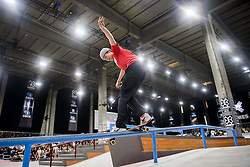 May 20, 2018 - Oslo, NORWAY - 180520 Jonas Carlsson of Sweden competes in the men's street skateboard nordic qualifier during X Games Norway on May 20, 2018 in Oslo.Photo: Fredrik Varfjell / BILDBYRÃ…N / kod FV / 150098 (Credit Image: © Fredrik Varfjell/Bildbyran via ZUMA Press)