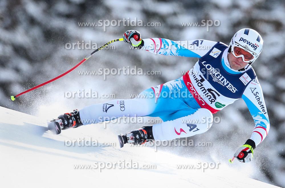 11.02.2013, Planai, Schladming, AUT, FIS Weltmeisterschaften Ski Alpin, Super Kombination, Abfahrt, Herren, im Bild  Romed Baumann (AUT) // Romed Baumann of Austria  in action during Mens Super Combined Downhill at the FIS Ski World Championships 2013 at the Planai Course, Schladming, Austria on 2013/02/11. EXPA Pictures © 2013, PhotoCredit: EXPA/ Johann Groder
