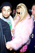 13.APRIL.2011. LONDON<br /> <br /> KATIE PRICE WITH BOYFRIEND LEANDRO PENNA SPEND THE NIGHT PARTYING TILL 3AM AT THE WHISKY MIST NIGHTCLUB. KATIE WAS OUT WITH THE ONLY WAY IS ESSEX STARS LAUREN POPE AND KIRK NORCROSS.<br /> ON THE WAY OUT, LAUREN AND KIRK WERE SEEN CANOODLING IN THE BACK OF THE CAR WITH A BIT OF FACE SUCKING GOING ON.<br /> A SMILING KATIE PRICE LEFT SHORTLY AFTER WITH HER BOYFRIEND. THEY HAD ALL EATEN OUT AT THE NOBU RESTAURANT EARLIER ON IN THE EVENING.<br /> <br /> BYLINE: EDBIMAGEARCHIVE.COM<br /> <br /> *THIS IMAGE IS STRICTLY FOR UK NEWSPAPERS AND MAGAZINES ONLY*<br /> *FOR WORLD WIDE SALES AND WEB USE PLEASE CONTACT EDBIMAGEARCHIVE - 0208 954 5968*