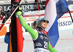 27.01.2018, Lenzerheide, SUI, FIS Weltcup Ski Alpin, Lenzerheide, Riesenslalom, Damen, Flower Zeremonie, im Bild Meta Hrovat (SLO) // Meta Hrovat of Slovenia during the Flowers ceremony for the ladie's Giant Slalom of FIS Ski Alpine World Cup in Lenzerheide, Austria on 2018/01/27. EXPA Pictures &copy; 2018, PhotoCredit: EXPA/ Sammy Minkoff<br /> <br /> *****ATTENTION - OUT of GER*****