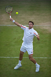 LONDON, ENGLAND - Thursday, June 24, 2010: Colin Flemming (GBR) during the Gentlemen's Doubles 1st Round match on day four of the Wimbledon Lawn Tennis Championships at the All England Lawn Tennis and Croquet Club. (Pic by David Rawcliffe/Propaganda)