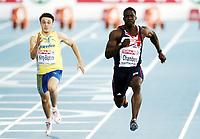 Friidrett, 27. juli  2010 ,<br /> EM Barcelona<br /> <br /> European Athletics Championships<br /> Barcelona<br /> <br /> Dwain Chambers , GBR   og Tom Kling-Baptiste , SWE , 100 m <br /> <br /> Foto: Anders Hoven , Digitalsport