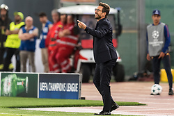 coach Eusebio Di Francesco of AS Roma during the UEFA Champions League group C match match between AS Roma and Atletico Madrid on September 12, 2017 at the Stadio Olimpico in Rome, Italy.