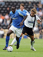 Photo: Paul Thomas. Derby County v Birmingham City, Pre season friendly, Pride Park, Derby. 23/07/2005. Emile Heskey gets away from Inigo Idiakez.