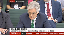 © Licensed to London News Pictures. 17/07/2012. London, UK. ADAIR TURNER. Bank of England Governor Sir Mervyn King and his Deputy Paul Tucker are facing questions from MPs on the Commons Select Committee on the banks efforts to bring the British economy out of a double-dip recession, they were also asked about the Libor scandal.. Photo credit : LNP