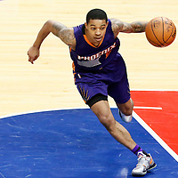 31 October 2016: Phoenix Suns guard Tyler Ulis (8) dribbles during the Los Angeles Clippers 116-98 victory over the Phoenix Suns, at the Staples Center, Los Angeles, California, USA.