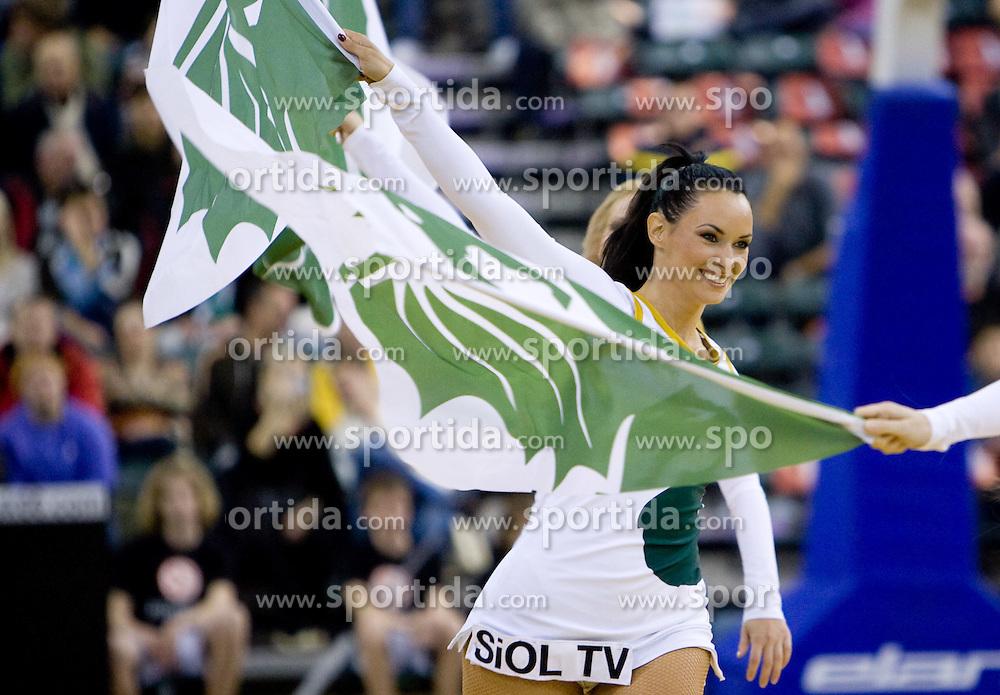 Cheerleaders Dragon Ladies at Euroleague basketball match of Group C between KK Union Olimpija, Ljubljana and Maroussi B.C., Athens, on October 29, 2009, in Arena Tivoli, Ljubljana, Slovenia. Olimpija lost 75:81.  (Photo by Vid Ponikvar / Sportida)