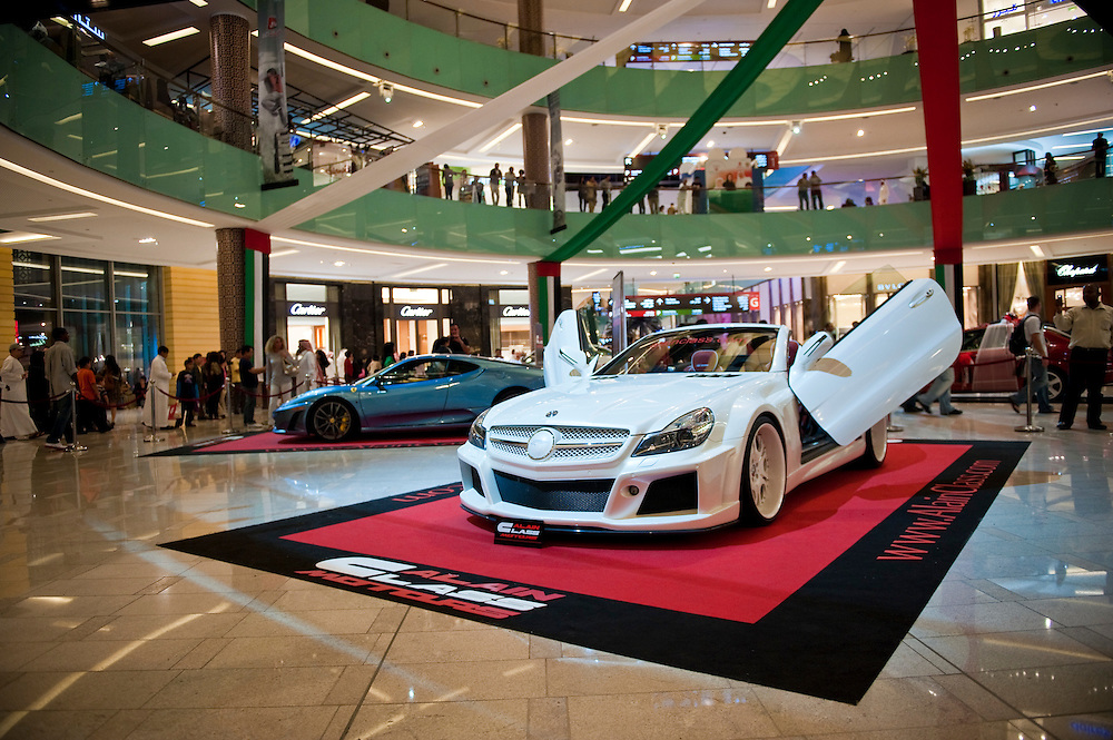 Cars on display at Dubai Mall, Dubai, UAE on Friday, February 12, 2010.