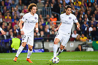 Edinson CAVANI / David LUIZ - 21.04.2015 - Barcelone / Paris Saint Germain - 1/4Finale Retour Champions League<br />
