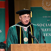 Wilmington University Chairman, Board of Trustees The Honorable Joseph J. Farnan, Jr addresses students during Wilmington University commencement exercise Sunday, May 17, 2015, at Chase Center On The Riverfront in Wilmington Delaware.