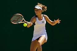 LONDON, ENGLAND - Tuesday, July 1, 2008: Katarzyna Piter (POL) during the girls' singles second round match on day eight of the Wimbledon Lawn Tennis Championships at the All England Lawn Tennis and Croquet Club. (Photo by David Rawcliffe/Propaganda)