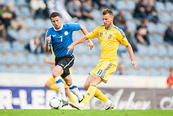 28.05.2012, Kufstein Arena, Kufstein, AUT, UEFA EURO 2012, Testspiel, Ukraine vs Estland, im Bild Oliver Konsa (EST, #07) vs Andriy Yarmolenko, (UKR, # 11) //  Oliver Konsa (EST, #07) vs Andriy Yarmolenko, (UKR, # 11) Game for the UEFA Euro 2012 betweeen Ukraine and Estonia at the Kufstein Arena, Kufstein, Austria on 2012/05/28. EXPA Pictures © 2012, PhotoCredit: EXPA/ Juergen Feichter