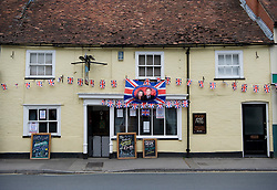 LOCATION, UK  29/04/2011. The Royal Wedding of HRH Prince William to Kate Middleton. .The community in Wilton, Wiltshire came together today in The Bear pub to commemorate the Royal Wedding of HRH Prince William to Kate Middleton. ..Photo credit should read Ian Forsyth/LNP. Please see special instructions. © under license to London News Pictures