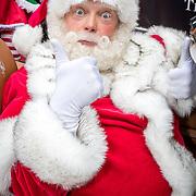 NLD/Amsterdam/20170925 - Presentatie A Christmas Carol 2017, kerstman achter het stuur in een Ferrari