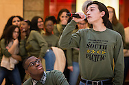 "Town of Wallkill, New York - Middletown High School students perform a song from ""South Pacific"" during the Orange County Arts Council's All-County High School Musical Showcase and Arts Display at the Galleria at Crystal Run on Feb. 27, 2016."