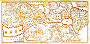 17th century Mapp of the Holy Land by Harper 1600 Ancient map in English