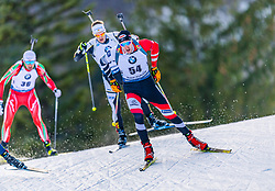 16.01.2020, Chiemgau Arena, Ruhpolding, GER, IBU Weltcup Biathlon, Sprint, Herren, im Bild Dominik Landertinger (AUT) // Dominik Landertinger of Austria during the men's sprint competition of BMW IBU Biathlon World Cup at the Chiemgau Arena in Ruhpolding, Germany on 2020/01/16. EXPA Pictures © 2020, PhotoCredit: EXPA/ Stefan Adelsberger