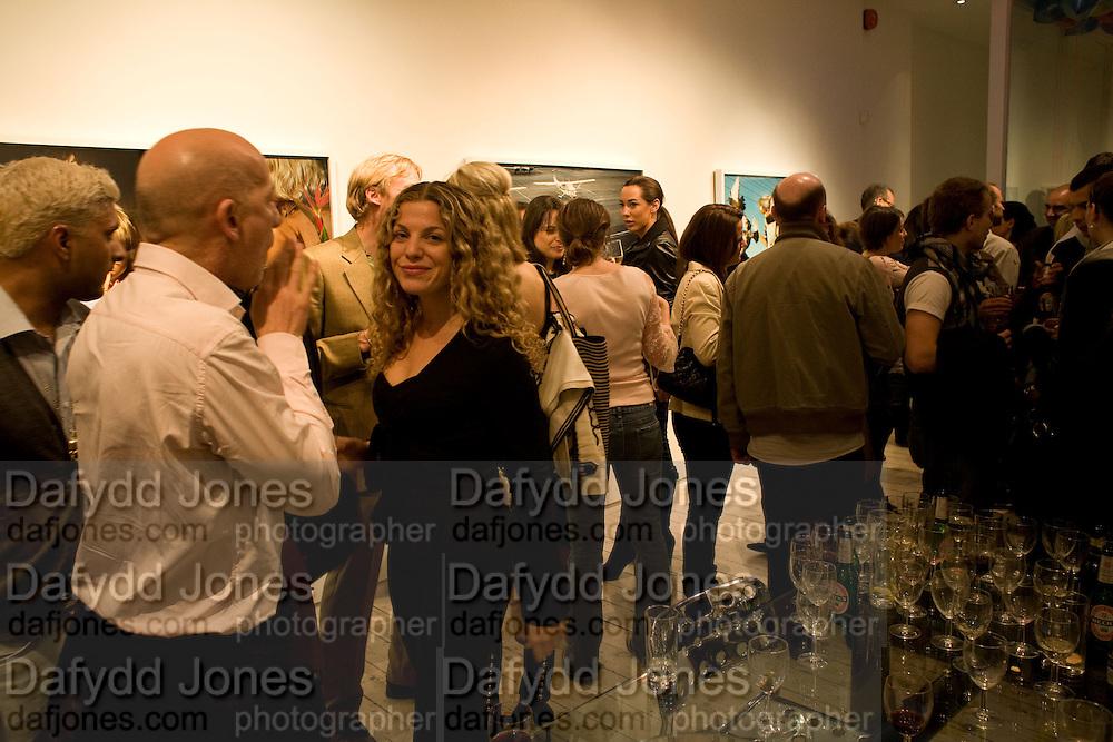 LORENZO POCCIANTI AND LEELU MORRIS,  Alex Prager's The Big Valley exhibition.  Michael Hoppen Contemporary.Jubilee Place. London. 24 April 2008.  *** Local Caption *** -DO NOT ARCHIVE-© Copyright Photograph by Dafydd Jones. 248 Clapham Rd. London SW9 0PZ. Tel 0207 820 0771. www.dafjones.com.