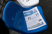 Brandenburg. GERMANY. &quot;roll up&quot; &quot;read all about it&quot; The Brandenburg's OC's newspaper distributed at the regatta course. <br /> 2016 European Rowing Championships at the Regattastrecke Beetzsee<br /> <br /> Wednesday  04/05/2016<br /> <br /> [Mandatory Credit; Peter SPURRIER/Intersport-images]