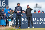 Tommy Fleetwood chooses his line during the final round of the Alfred Dunhill Links Championships 2018 at West Sands, St Andrews, Scotland on 7 October 2018