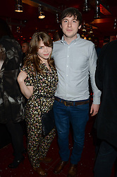 Actor LIAM BOYLE and JOANNA WOODCOCK at a party to celebrate the 160th anniversary of Tissot held at the Supperclub, 12 Acklam Road, London, W10 on 17th October 2013.