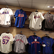 Mets merchandise for sale at Citi Field, home of the New York Mets during the New York Mets V San Diego Padres Baseball game at Citi Field, Queens, New York. 5th April 2012. Photo Tim Clayton