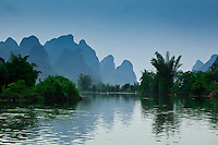 The beautiful limestone karst scenery that surrounds Yangshuo is simply stunning.