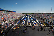 April 22-24, 2016: NHRA 4 Wide Nationals: NHRA 4 wide Top Fuel eliminations.