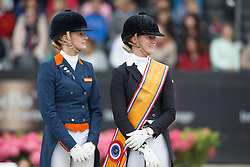 Nekeman Denise, Nekeman Jeanine, (NED)<br /> Young Rider Kür Final<br /> Dutch Championship Dressage - Ermelo 2015<br /> © Hippo Foto - Dirk Caremans<br /> 19/07/15
