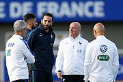 Adil Rami during the training of the team of France before the FIFA World Cup qualifying football match between Bulgaria and France, on October 2, 2017 in Clairfontaine, France - Photo Benjamin Cremel / ProSportsImages / DPPI