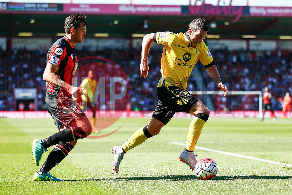 Jordan Veretout of Aston Villa in action - Mandatory by-line: Jason Brown/JMP - Mobile 07966 386802 08/08/2015 - FOOTBALL - Bournemouth, Vitality Stadium - AFC Bournemouth v Aston Villa - Barclays Premier League - Season opener