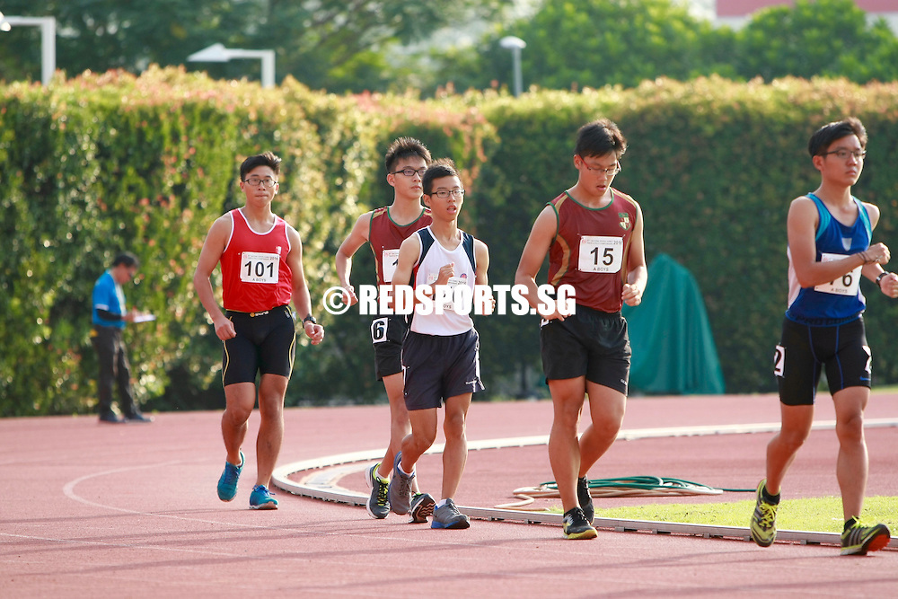 Bishan Stadium, Friday, April 22, 2016 - Chua Ming of Hwa Chong Institution (HCI) came in far ahead of the competition and took home the A Division 5000m Walk gold at the 57th National Schools Track and Field Championships with a timing of 25 minutes 54.83 seconds.