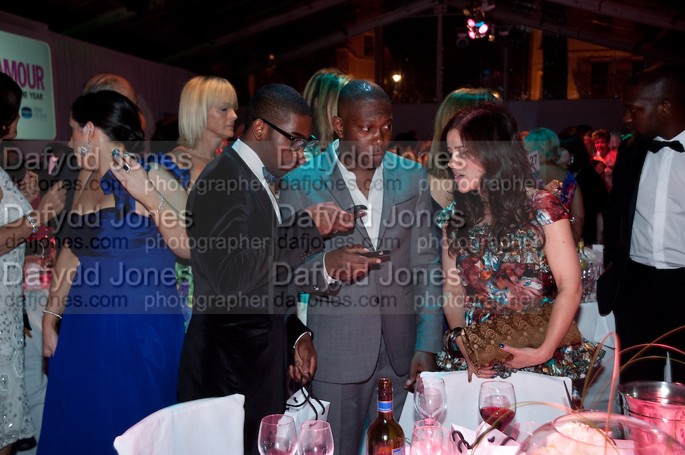 TINIE TEMPAH; DIZEE RASCALL; , 2010 GLAMOUR AWARDS GIVEN BY GLAMOUR MAGAZINE. BERKELEY SQ. LONDON. 8 JUNE 2010. -DO NOT ARCHIVE-© Copyright Photograph by Dafydd Jones. 248 Clapham Rd. London SW9 0PZ. Tel 0207 820 0771. www.dafjones.com.
