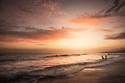 Thousand Steps Beach in Laguna at Sunset