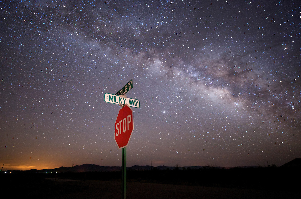 "In Portal, Arizona where Arizona Sky Villages is developing a community for fans of dark skies.  Homes have telescope domes on the roof and connections to a robotic telescope. Streets have names like ""Milky Way."""