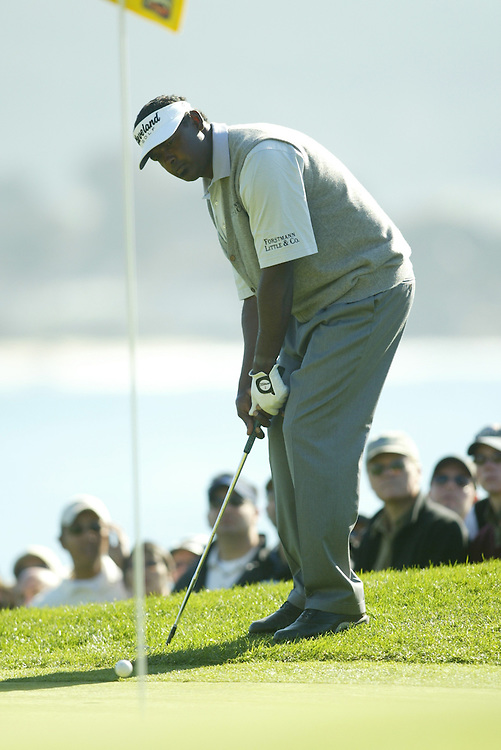 Vijay Singh..2004 AT&T Pebble Beach National Pro-Am.Fourth Round.Pebble Beach Golf Links.Sunday, February 8 2004..Photograph by Darren Carroll .