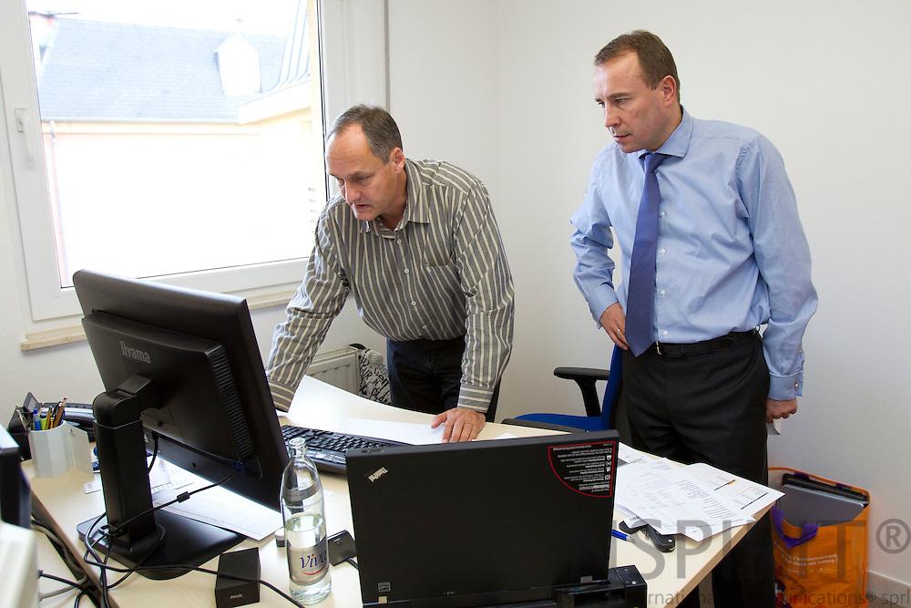 Valueinvest i Luxembourg den 13 december 2010. Fra venstre Jan E. Jensen, Systems Developer og Jesper Alsing, Managing Director, CEO. Photo Erik Luntang /INSPIRIT Photo
