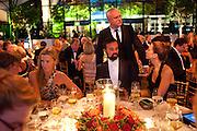INDIA HICKS; ALEXANDER LEBEDEV; EVGENY LEBEDEV; MARGOT STILLEY, Evgeny Lebedev and Graydon Carter hosted the Raisa Gorbachev charity Foundation Gala, Stud House, Hampton Court, London. 22 September 2011. <br /> <br />  , -DO NOT ARCHIVE-© Copyright Photograph by Dafydd Jones. 248 Clapham Rd. London SW9 0PZ. Tel 0207 820 0771. www.dafjones.com.
