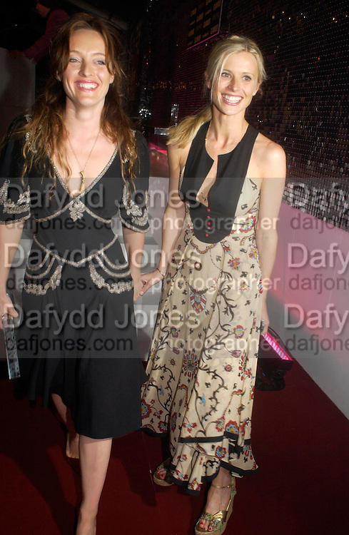 Alice Temperley and Laura Bailey. Glamour Women Of The Year Awards 2005, Berkeley Square, London.  June 7 2005. ONE TIME USE ONLY - DO NOT ARCHIVE  © Copyright Photograph by Dafydd Jones 66 Stockwell Park Rd. London SW9 0DA Tel 020 7733 0108 www.dafjones.com