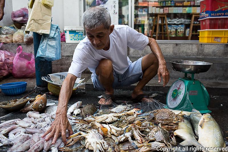 vendor Chow Rasta market, Lorong Kuala Kangsar near Kimberley St