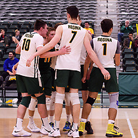 Cougars Men's Volleyball during the Women's Volleyball Home Game vs U of C Dinos on October21 at the CKHS University of Regina. Credit Arthur Ward/©Arthur Images 2017