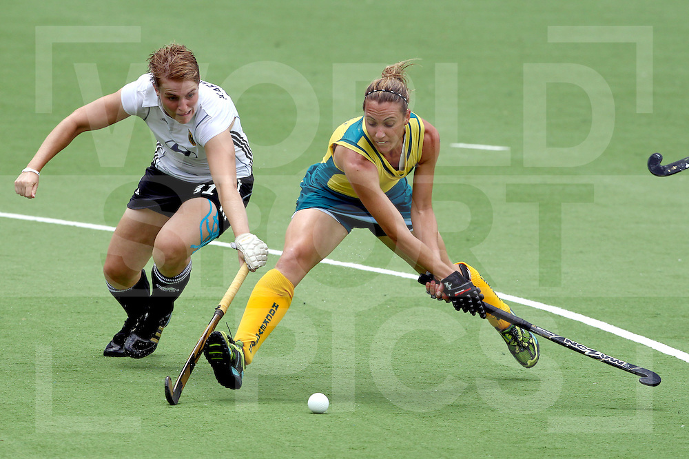 Womens Champions Trophy, Amsterdam 2011.28062011 Day 3 Australia v Germany.Renee Trst Australia shoots at goal ..Credit: Grant Treeby.Editorial use only(No Archiving)